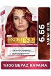 Excellence Creme Saç Boyası 6.66 Koyu Kumral Yoğun Kızıl