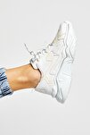 Kadın Beyaz Sarı  Sneaker DNZ-1