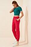 Kadın Açık Kırmızı Cepli Eşofman Altı CR00327
