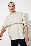 Taş Erkek Oversize Bisiklet Yaka Kısa Kollu Nakışlı T-Shirt TMNSS21TS1889