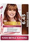 Excellence Creme  Sıcak Bakır Kahve Saç Boyası 6.45