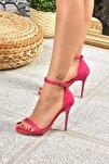 Fuşya Süet Topuklu Ayakkabı B922112602