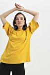 Truvakar Kol Basic Oversize Tişört Hardal