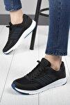 Unisex Siyah Rahat Taban Günlük Spor Ayakkabı