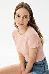 Pembe Fitilli Örme Bluz TWOSS21BZ0779