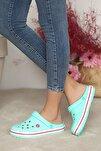 Unisex Yeşilbeyaz Sandalet