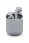 Airpods  I12 Gri Uyumlu Bluetooth Kulaklık Tüm Telefonlar İle Uyumlu