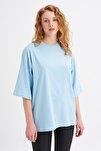 Truvakar Kol Basic Oversize Tişört Bebe Mavi