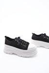 Kadın Sneaker Dolgu Topuk Spor Ayakkabı Ateznasiyah