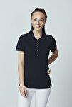Pamuklu Polo Yaka T-shirt Siyah