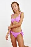 Lila Bağlama Detaylı Dokulu Bikini Altı TBESS21BA0334