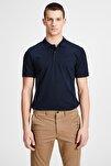 JJEBASIC POLO SS NOOS Lacivert Erkek Kısa Kol T-Shirt 101069442