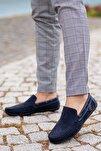 Lacivert Süet Günlük Ayakkabı M3473 Hediye