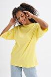 Truvakar Kol Basic Oversize Tişört Sarı
