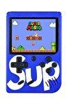 400 Nostalji Oyunlu Mini Atari Gameboy & Gamebox Oyun Konsolu Mavi