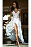 Kadın Beyaz Uzun Fantezi Gecelik 3195-1