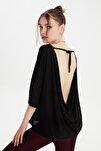 Siyah Sırt Detaylı Örme Bluz TWOSS20BZ1040