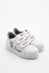 Unisex Çocuk Beyaz Yazlık Baskılı Spor Ayakkabı