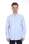 Erkek Açık Mavi Uzun Kollu Slim Fit Gömlek