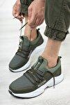 Unisex Haki Beyaz Sneaker 0012072