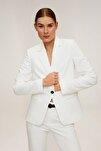 Kadın Beyaz Astarlı Gündelik Blazer Ceket 67090545