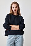 Lacivert Basic Örme Sweatshirt TWOAW20SW0055