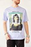 Erkek Mavi Baskılı Salaş T-shirt 0yxe1-44016-12