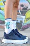 Ch004 Bt Kadın Ayakkabı Lacivert
