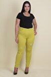 Kadın Yeşil Taş Ve Yırtık Detaylı Likralı Pantolon 65N17889