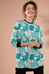 Kadın Baskılı Örme Boyfriend Sweatshirt Y20w155-6066