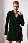 Yeşil Düğme Detaylı Blazer Ceket TWOAW20CE0367