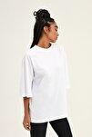 Truvakar Kol Basic Oversize Tişört Beyaz