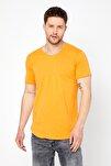 Erkek Açık Hardal Pis Yaka Salaş T-shirt