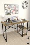 60x120 Cm 2 Raflı Çalışma Masası Bilgisayar Masası Ofis Ders Yemek Masası Patik