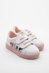 Kız Çocuk Beyaz Yazlık Baskılı Spor Ayakkabı