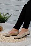Kadın Gümüş Babet Ayakkabı