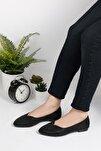 Kadın Siyah Renkli Butik Babet Ayakkabı