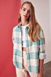 Mint  Oduncu Cep Detaylı Ekose Ceket Gömlek TWOAW21GO0321