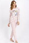 Kadın Somon Fast And Cute Pijama Takımı