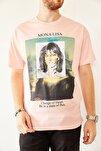 Erkek Pudra Baskılı Salaş T-shirt 0yxe1-44016-50