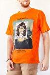 Erkek Turuncu Baskılı Salaş T-shirt 0yxe1-44016-11