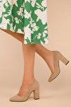 Ten Süet Kadın Klasik Topuklu Ayakkabı 15313