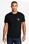 Erkek Siyah Baskılı T-Shirt