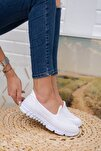 Beyaz File Memory Foam Ayakkabı