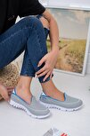 Gri Fileli Memory Foam Ayakkabı