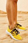Kadın Sarı Rahat Triko Örme Ayakkabı AYKB001