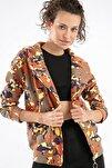 Kadın Kamuflaj 3 İplik Çapraz Fermuarlı Ceket 10402 Y19W126-10402