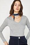Kadın Gri T-Shirt 9YAK13041GK