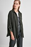 Haki Kazayağı Ceket Gömlek TWOAW20GO0159