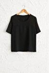 Kadın Siyah Bluz 0WDI44Z8